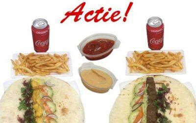 ACTIE | Broodje lams of kip kabab met frites en fisdrank naar keuze € 8,50!